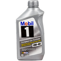 Mobil 美孚 1号 0W-40 SN 全合成机油 1QT *4件