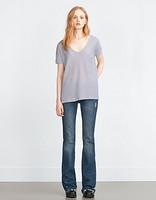 限S码:ZARA 5039/272 女款口袋T恤