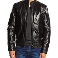 STRELLSON 史尊臣 Strellson Premium Herren Lederjacke Jacke Partico 皮衣