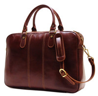 新补货 : Floto Venezia Slim Brown Briefcase 复古男士公文包