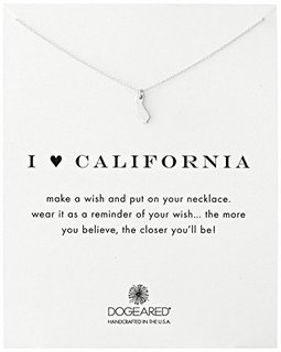 DOGEARED Reminders系列 I Love California State 加州项链