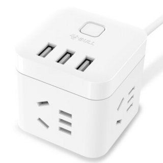 BULL 公牛 GN-U303U 白色魔方USB插座 1.5m