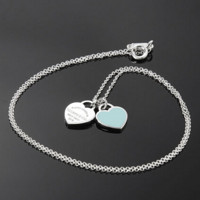 Tiffany & Co. 蒂芙尼 Return to Tiffany系列 Double Heart Tag 吊坠项链