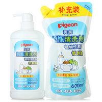 PIGEON 贝亲 奶瓶 PL156 清洗剂补充套装 700ml+600ml