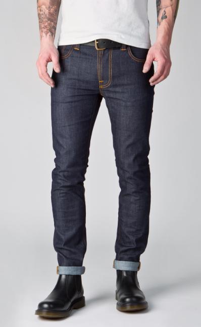 Nudie Jeans THIN FINN DRY TIGHT BROKEN 11OZ 男士牛仔裤
