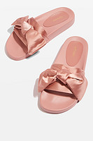 TOPSHOP HALO Bow Slides 女士拖鞋
