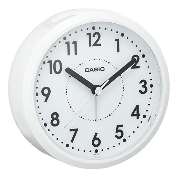 CASIO 卡西欧 TQ-271-7JF 白色桌面闹钟