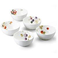 中亚Prime会员:NARUMI 鸣海制陶 Lucy's Garden系列 骨瓷碗 5件套 *3件