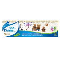 Kleenex 舒洁 小熊印花手帕纸 3层9张10包(205*205mm)