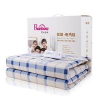 彩虹电热毯双人电褥子安全除螨电毯子定时关断电热毯 (花色随机)长1.8米 宽1.5米 JD112+凑单品