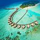 一价全包!全国多地-马尔代夫蓝色美人蕉6-7天自由行(2沙2水+早晚餐)