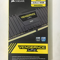 CORSAIR 海盗船 Vengeance LPX 16GB DDR4 3000MHz 台式机内存(8GB×2条)
