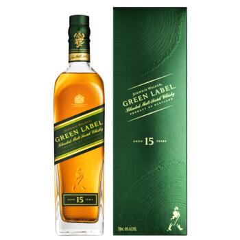 JOHNNIE WALKER 尊尼获加 绿牌 调配型苏格兰威士忌 750ml