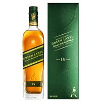 PLUS会员:JOHNNIE WALKER 尊尼获加 绿牌15年苏格兰威士忌 750ml