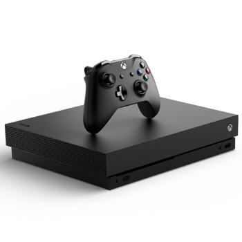 Microsoft 微软 Xbox One X 游戏主机 1TB 黑色