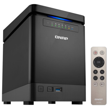 QNAP 威联通 TS-453Bmini NAS网络存储 四盘位 J3455 8GB 无硬盘 黑色