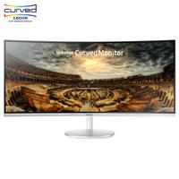 三星(SAMSUNG)34英寸 1500R曲率 100Hz量子点 WQHD高分辨率 爱眼 HDMI/DP接口 可升降电脑显示器C34F791WQC