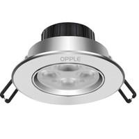 OPPLE 欧普照明 高光银款 筒灯 5W 黄光