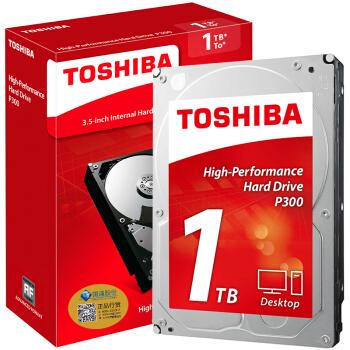 TOSHIBA 东芝 3.5英寸台式机硬盘 1TB 64MB(7200rpm、PMR)HDWD110