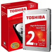TOSHIBA 东芝 P300 台式机硬盘 2TB 64MB 7200rpm HDWD120