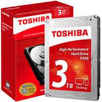 TOSHIBA 东芝 P300系列 7200转 64M SATA3 台式机硬盘 3TB