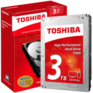 TOSHIBA 东芝 P300系列 7200转 64M SATA3 台式机硬盘 3TB 64MB