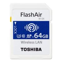 TOSHIBA 东芝 FlashAir 第四代无线局域网嵌入式 SDHC存储卡 U3   64G