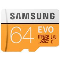 SAMSUNG 三星 存储卡 MP EVO黄色升级版 高速TF卡(Micro SD卡) 64G