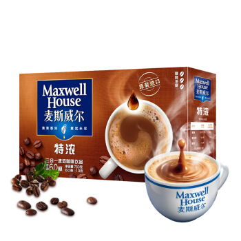 Maxwell House 麦斯威尔 特浓速溶咖啡 13g*60条(780g) 盒装