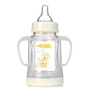 IVORY 爱得利 晶钻系列 宽口径玻璃奶瓶 150ml
