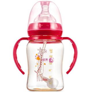 GL 格朗 N-3 宽口径PPSU奶瓶  酒红 180ML