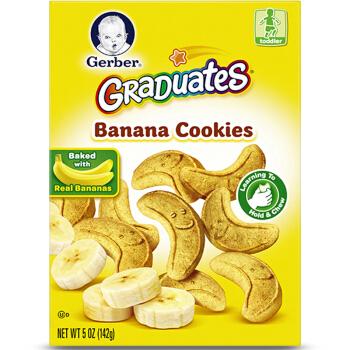 Gerber 嘉宝 婴幼儿曲奇饼干 142g 4段 香蕉味