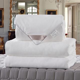 太湖雪  被芯家纺 100%桑蚕丝被 优质长丝填充 全棉面料 子母被 四季被 白色 净重2+4斤 220*240cm