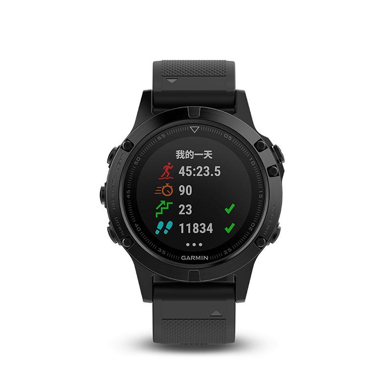 Garmin佳明 fenix5 飞耐时5国行中文版蓝宝石镜面DLC光电心率GPS运动表 黑色