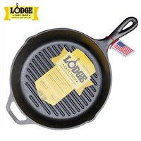 Lodge 洛极 铸铁煎锅 26cm 横纹款