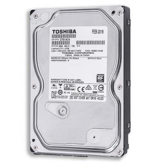 东芝(TOSHIBA) 1TB 32MB 7200RPM 台式机机械硬盘 SATA接口 消费级系列 (DT01ACA100) 个人电脑与外部存储