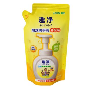 LION 狮王 趣净泡沫洗手液 柠檬香型 200ml *9件