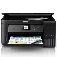 EPSON 爱普生 L4168 墨仓式彩色无线打印一体机 深邃黑