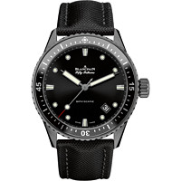 BLANCPAIN 宝珀 Fifty Fathoms Bathyscaphe 五十噚 5000-0130-B52A 男士机械腕表