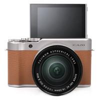 FUJIFILM 富士 X-A20 无反相机套机(XC 16-50 II镜头)摩卡棕