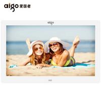 爱国者(aigo) 数码相框DPF83 (宽屏)8英寸高清电子相册 智能家居  支持视频音乐 SD卡/U盘直插 珍珠白
