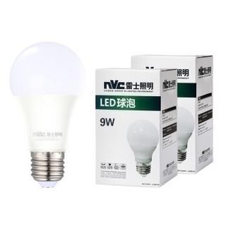 nvc-lighting 雷士照明 LED球泡 E27大口 正白光 9W