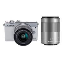 Canon 佳能 EOS M100 双镜头无反套机(15-45mm+55-200mm)白色