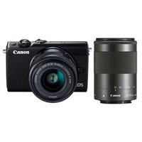 Canon 佳能 EOS M100 双镜头无反套机(15-45mm+55-200mm)黑色