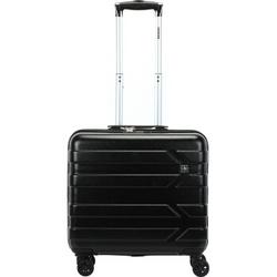 瑞世(SUISSEWIN)  轻盈旅行箱行李箱登机箱 SN6610E 18英寸 黑色