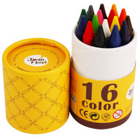 Joan Miro 美乐 JM08343 16色粗杆蜡笔 可水洗 16支装 *3件