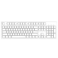 PLUS会员:iKBC C104 104键 有线机械键盘 正刻 白色 Cherry静音红轴 无光