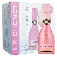法国原瓶进口红酒 香奈(J.P.CHENET)冰爽半干型桃红起泡葡萄酒 整箱装 200ml*6瓶