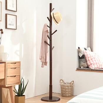 家逸 衣帽架 棕色 (实木)