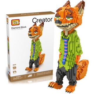 LOZ 俐智 疯狂动物园系列 9029 狐狸-尼克 1650片小颗粒 *3件